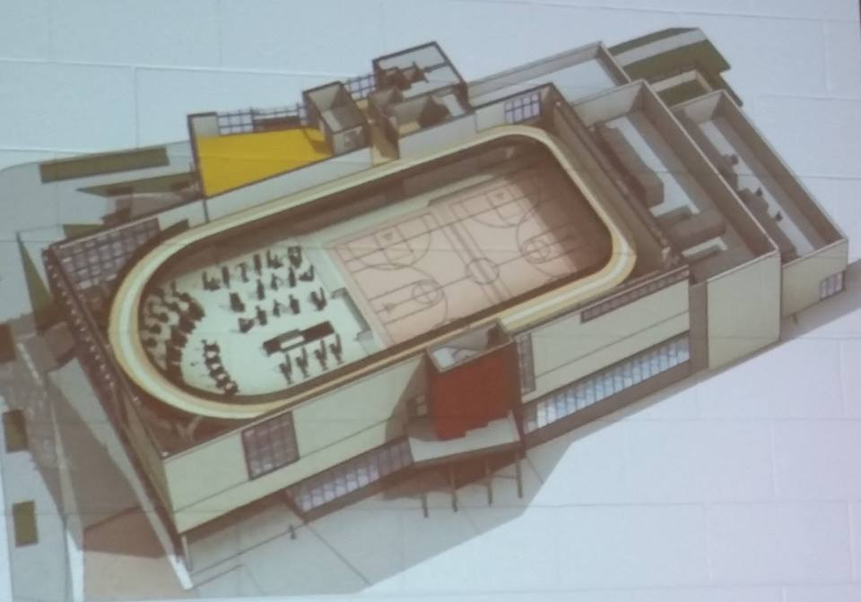 Third floor, with jog track (once completed).