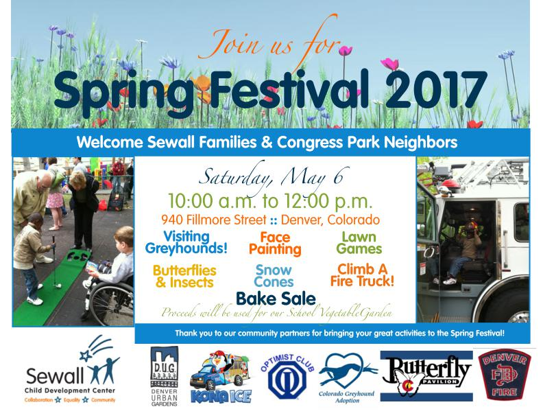 Sewall  Spring Festival @ Sewell Child Development | Denver | Colorado | United States