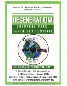 Earth Day Flyer 2016-Regeneration